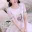 Odee Cutie White Dress เดรสแขนสั้นสีขาว ปักดอกไม้สีหวาน thumbnail 6