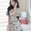 Seoul Secret Colorful Jewel Print Gold Bead Furnish Dress thumbnail 2