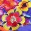 Ice Vanilla มินิเดรสแขนกุด ผ้าพิมพ์ลายสีสดใส แต่งลายปักดอกไม้ 3 มิติ thumbnail 8