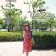 Odee Cutie Maxi Dress เดรสยาวสีแดง ลายดอก พร้อมเข็มขัดเข้าเซ็ท thumbnail 8