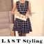Black & White Tartan Mini Dress มินิเดรสแขนกุด ลายตาราง thumbnail 2