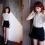 GOD is Girl เสื้อผ้าลูกไม้สีขาว แต่งกระดุมเพชร thumbnail 6