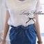 Lady Ribbon White Crochet Blouse เสื้อลูกไม้โครเชต์ thumbnail 1