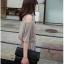 Cherry KOKO จั๊มพ์สูทเปิดไหล่ มีกระเป๋าข้าง สีเทา thumbnail 6