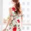 Seoul Secret Girly Red Blossom Print Camisole Dress thumbnail 6