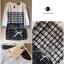 Lady Ribbon Black & White Tweet Mini Dress เก๋ เรียบหรู ไฮโซสุดๆ thumbnail 10