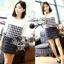 Lady Ribbon Black & White Tweet Mini Dress เก๋ เรียบหรู ไฮโซสุดๆ thumbnail 2