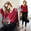 Sevy Long Sleeved Red Wine Shirt With Harlem Pants thumbnail 1