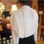 Cherry KOKO เสื้อผ้าไหมชีฟองสีขาว คอจีน แต่งระบายที่ไหล่ thumbnail 4