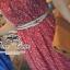 Odee Cutie Maxi Dress เดรสยาวสีแดง ลายดอก พร้อมเข็มขัดเข้าเซ็ท thumbnail 3