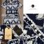 Lady Ribbon Mixed Print Mini Dress เดรสพิมพ์ลายวินเทจ สีกรมท่า thumbnail 10