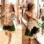 Partysu Vivid Dress เดรสเกาหลีแขนกุดสีครีม กระโปรงทรง A thumbnail 8