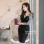 Icevanilla Romantic Black Lace Knit Dress thumbnail 1