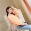 เสื้อ ผ้าตาข่าย แต่งยางยืดที่แขนและเสื้อ สีดำ สีส้ม thumbnail 2
