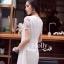 See-Through Embroidery Dress เดรสผ้าลูกไม้ซีทรู สีขาว / ดำ thumbnail 3
