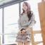 Cherry KOKO ชุดเดรสสีเทา กระโปรงแต่งระบายเป็นชั้นๆ thumbnail 4