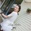 Lady Ribbon Lace Embroidery Dress เดรสลูกไม้ฉลุ ผ้าซีทรู thumbnail 7
