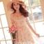 Ice Vanilla Princess Dress เดรสชีฟองแต่งผ้าลูกไม้ ลายดอกสีหวาน thumbnail 1