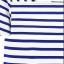 Cherry Dress เสื้อลายขวาง สีน้ำเงิน ผ้า Cotton ผสม Spandex thumbnail 8