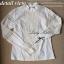 Lady Ribbon Lace Blouse เสื้อแขนยาวตัดต่อผ้าลูกไม้เนื้อดี สีขาว thumbnail 12