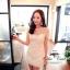 Fleur Blanc Mini Dress มินิเดรส ผ้าลูกไม้ ปักฉลุลายดอกไม้ thumbnail 5