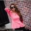 Pretty in Pink Top เสื้อแต่งระบายที่ชายเสื้อ สีชมพู thumbnail 1