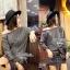 Lady Ribbon Casual Gray Stripe Long-sleeve Loose Mini Dress thumbnail 4