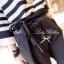 Lady Ribbon ชุดเซ็ตเสื้อถักลายทาง กางเกงขายาวทรงฮาเร็ม ผูกโบว์ช่วงเอว thumbnail 9