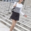 Lady Ribbon Black & White Tweet Mini Dress เก๋ เรียบหรู ไฮโซสุดๆ thumbnail 4