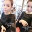 Lady Ribbon Mini Dress เดรสแขนยาว ซีทรูดีเทลอกฉลุรังผึ้ง thumbnail 7