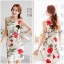 Seoul Secret Girly Red Blossom Print Camisole Dress thumbnail 2