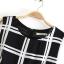 Urban Style Lady เดรสผ้าชีฟองสีดำ ลายตาราง ผูกโบว์ที่เอว thumbnail 8