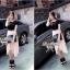Lady Ribbon Jersey Chiffon Layer Dress เดรสต่อกระโปรงชีฟอง thumbnail 7