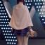 เสื้อแต่งระบายด้านหลัง ผ้าชีฟอง สีชมพูนู้ด thumbnail 3