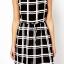 Urban Style Lady เดรสผ้าชีฟองสีดำ ลายตาราง ผูกโบว์ที่เอว thumbnail 4