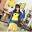 MisSweet เสื้อไหมพรม สีน้ำเงิน ถักลายลูกเป็ด สุดฮอต thumbnail 2