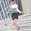 Lady Ribbon Black & White Tweet Mini Dress เก๋ เรียบหรู ไฮโซสุดๆ thumbnail 5