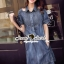 Seoul Secret Carroll Curve Shoulder Dimond Dress thumbnail 4