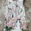 Lady Ribbon Sakura Printed Ruffle Sleeved Shift Dress thumbnail 6