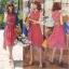 Odee Cutie Maxi Dress เดรสยาวสีแดง ลายดอก พร้อมเข็มขัดเข้าเซ็ท thumbnail 2