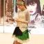 Partysu Vivid Dress เดรสเกาหลีแขนกุดสีครีม กระโปรงทรง A thumbnail 6