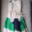 Partysu Vivid Dress เดรสเกาหลีแขนกุดสีครีม กระโปรงทรง A thumbnail 9