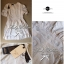Lady Ribbon Lace Embroidery Dress เดรสลูกไม้ฉลุ ผ้าซีทรู thumbnail 9