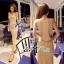 Lady Ribbon Maxi Dress ผ้ายืดเจอร์ซีย์ ตัดต่อเว้าหลังสุดเซ็กซี่ thumbnail 1