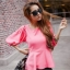 Pretty in Pink Top เสื้อแต่งระบายที่ชายเสื้อ สีชมพู thumbnail 2