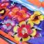 Ice Vanilla มินิเดรสแขนกุด ผ้าพิมพ์ลายสีสดใส แต่งลายปักดอกไม้ 3 มิติ thumbnail 9
