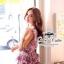 Odee Cutie เสื้อชีฟองลายดอกไม้เล็กๆ ขายพร้อมเข็มขัด thumbnail 5