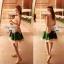 Partysu Vivid Dress เดรสเกาหลีแขนกุดสีครีม กระโปรงทรง A thumbnail 7