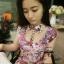 Blooming Floral Mini Dress มินิเดรส ลายดอกไม้ โทนสีชมพูหวานๆ thumbnail 5