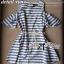 Lady Ribbon Striped Cut-Out Dress เดรสลายทางตัดแต่งช่วงไหล่ 2 สี thumbnail 11
